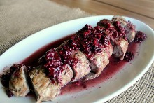 Chili-Spiced Pork Tenderloin with Caramelized Blackberry Sauce